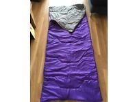 Purple sleeping bag