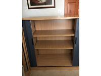 Free - Sliding Shutter Door Solid Wood Office Cabinet