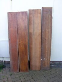 RECLAIMED TIMBER/WOOD WIDE BOARDS PARANA PINE/PINE 12 & 10 inches wide 5ft 6in long