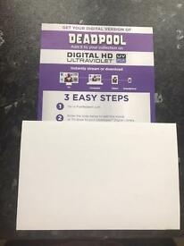 Deadpool Digital HD Ultraviolet Code Only