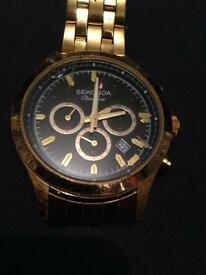 Sekonda classique gold plated watch, slight damage will only cost £5-£19 for repair
