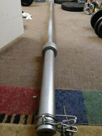 Olympic Barbell weight bar 7 ft