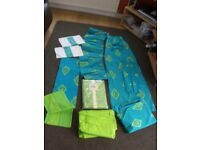 Green/Lime Curtains from Coloroll with ties back x 2,