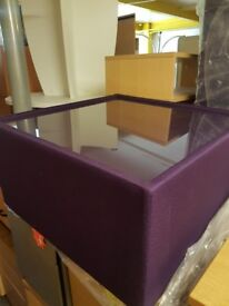New Funky modern Glass topped Purple or Green Reception Coffee tables
