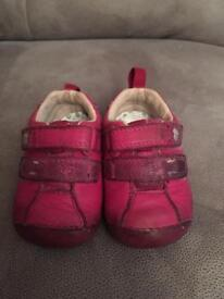 3 pairs of Clarks baby shoes
