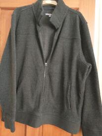 Men's thick fleece jacket. Dark grey. XL/XXL