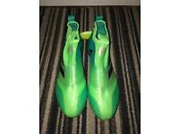 2 Pairs of Adidas Football ACE 17+ Pure Control FG Boots; 1 Green & 1 Black, Size 9 RRP £460.