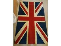 Union Jack themed rug