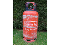 FULL 18kg CALOR GAS PROPANE CYLINDER AUTOGAS MOTOR FORK LIFT LPG NO EXCHANGE REQUIRED