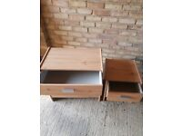 small and large chest of drawers good condition