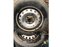 Vivaro traffic primastar steel wheel set and tyres 4x