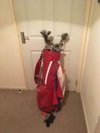 Full set of clubs with bag.balls and tees