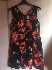 Simply be floral skater dress size 18