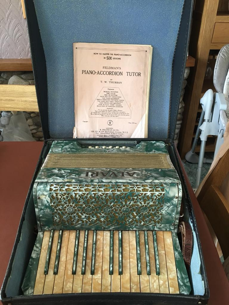 Vintage Alvari Mother of Pearl Piano Accordion Sold subject to collection