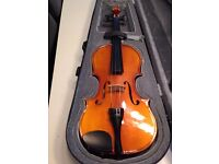 3/4 size violin - Lovely tone - Suit beginner- Including Case- Bow not included