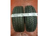 2x 195/60/15 Tyres part worn