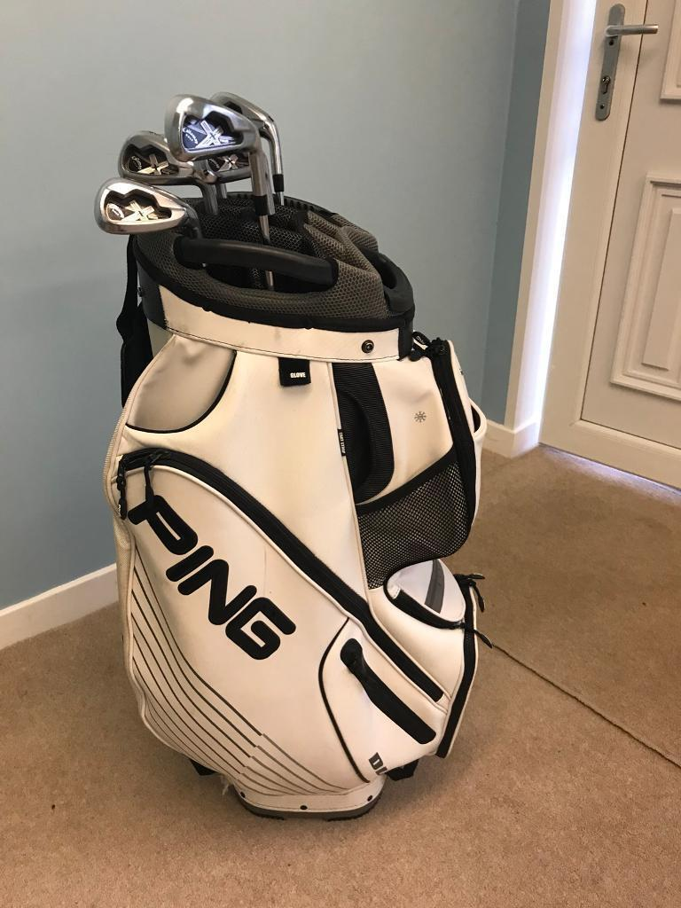 5cf215a4003d Ping DLX Leather Cart bag