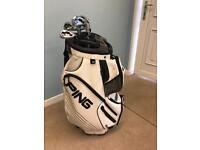 Ping DLX Leather Cart bag