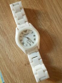Emporio Armani White Ceramic Ladies Watch