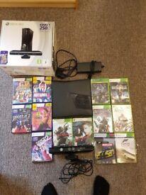 Xbox 360 250Gb # 13 Games # Kinect Inc # Box Inc