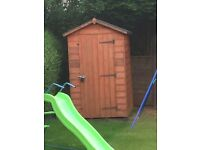 6x4 garden shed, only 2 yrs old solid wood.