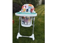 Mama and papas fold up highchair