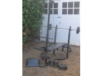 Bench Press with Weights and Bar