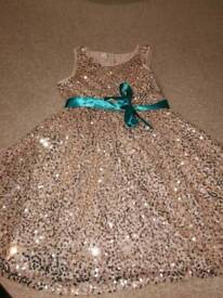 Monsoon girls sequin party dress
