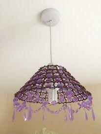 Purple ceiling light - Good condition!
