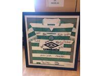 Signed and framed wim Jansen Celtic top