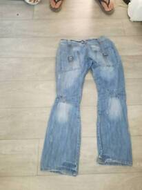 Two pairs of men jeans 30w 32l