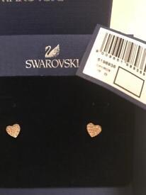 Swarovski rose gold plated earrings