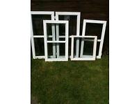 Various double glazed window inserts (wood)