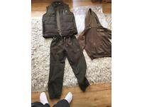 Nash joggers and body warmer only used once Fishing clothes bundle Nash body warmer