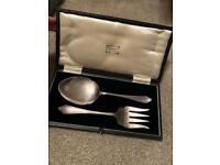 Antique harrods serving silver spoons