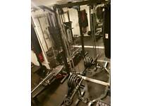 BODYMAX high/low cable pulley attachment system for the CF375 power squat rack