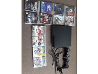 Ps3 320 gb console with 12 games and two controllers
