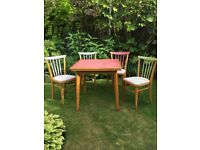 Dining Table and 4 padded chairs