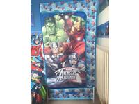 Avengers canvas wardrobe with bottom canvas drawer