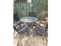 Garden table and 4 chairs set furniture patio