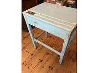 Shabby chic single old school desk
