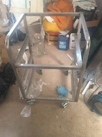 Glass tray trolley