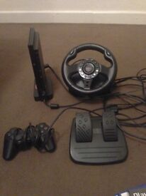 Ps2 slim with one controller