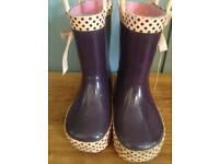 Infant size 5 Chipmunks wellies