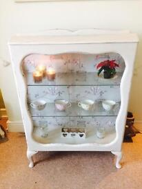 Pretty glass cabinet - matching items also available
