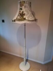 Standing Floor Lamp with Handmade Vintage Shade