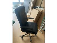 Black Office Chairs hardly used in Brighton for collection £40 each