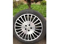 """Mercedes Benz alloy wheels 19"""" staggered"""