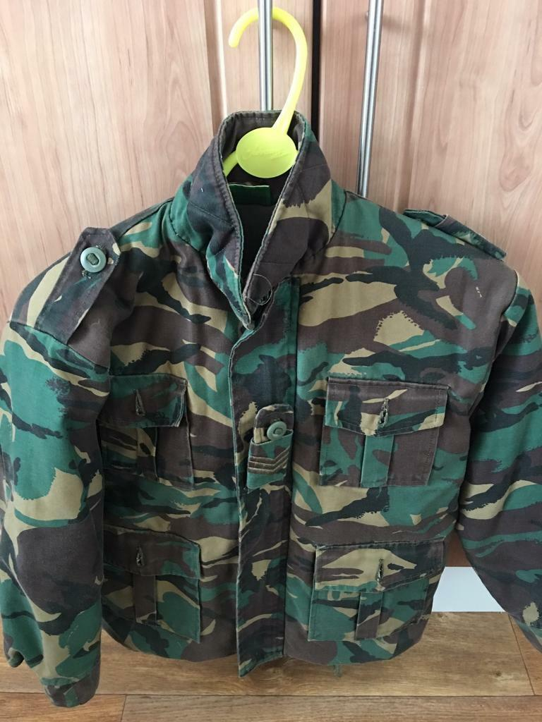 Army jacket and tactical vestin Bransholme, East YorkshireGumtree - Army jacket and tactical vest been used but still in condition fit age 8 10 also a pair of combat trousers but they have a hole in the knee