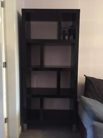 Shelf Unit Modern Black Gloss Shelveing